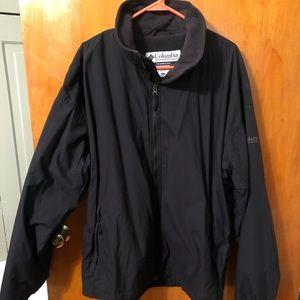 Men's Columbia fleece lined coat